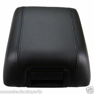 New Oem 04 08 Ford F 150 Black Leather Center Console Arm Rest 5l3z1506024aac