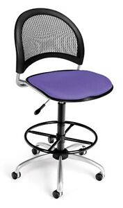 Medical Office Task Chair In Lavender Fabric W drafting Stool Lab Stool
