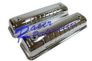 1955 64 Ford Y Block 272 292 312 Valve Covers Chrome Steel Tall V8