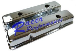 Sbc Chevy 350 Chrome Short Steel Valve Covers W Oil Cap Hole 283 305 327 400