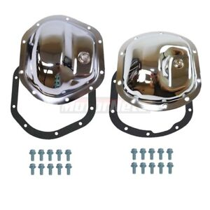 Jeep Cj 5 Series Chrome Differential Covers Gasket Bolts Dana 30 Front 44 Rear
