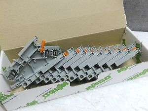 Box Of 10 Wago Terminal Block 282 866 New 282866