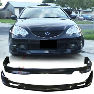 Fits 02 03 04 Acura Rsx Coupe Front Rear Bumper Lip Spoiler Bodykit
