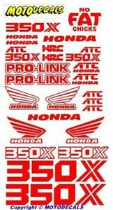 Decal Stickers Graphics For Honda Atc350x Atc 350x Fender Tank Emblems