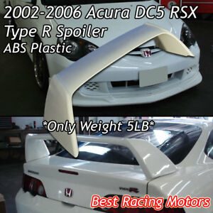 Tr Style Rear Trunk Spoiler Wing Abs Fits 02 06 Acura Rsx