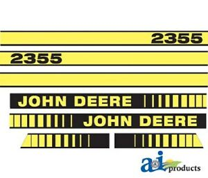 John Deere 2355 Tractor Decal Set