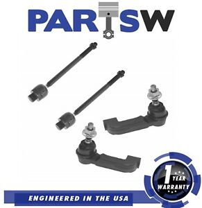 4 Pc Kit Tie Rod Ends Jeep Liberty 4wd 02 03 04 05 Inner Outer 1 Year Warranty