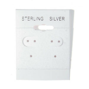 1000 Sterling Silver White Hanging Earring Cards Display 2 X 1 1 2 With Lip