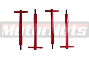 4x Red Wing Nut Aluminum Valve Cover T Bar 1 4 20 Chevy Ford Mopar Sbc Bbc Rod