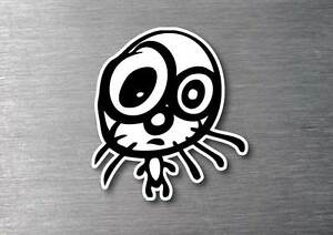 Punched Out Kitty Sticker 7 Year Vinyl Water Fade Proof Car Jdm Drift Jdm