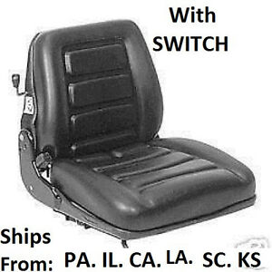 Suspension Forklift Seat W Switch Clark Toyota Yale