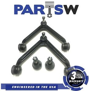 4 Pc Kit For 2002 2005 Dodge Ram 1500 Ball Joints Control Arms 3 Yr Warranty