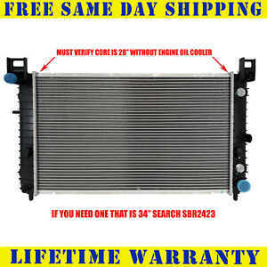 Radiator For Chevy Silverado 1500 4 3 4 8 5 3 Cadillac Escalade 5 3 2334