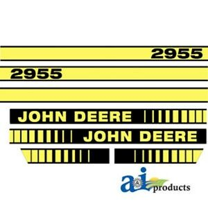 John Deere 2955 Tractor Decal Set