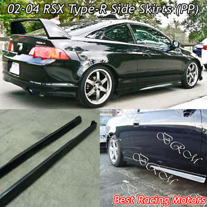Tr Style Side Skirts Pp Fits 02 04 Acura Rsx