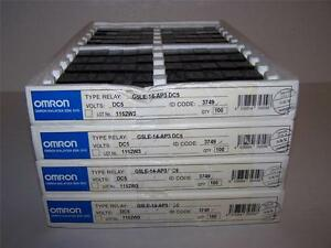 Omron G5le 14 ap3 dc5 General Purpose Relay Spdt 10a 5v New In Box Lot Of 100