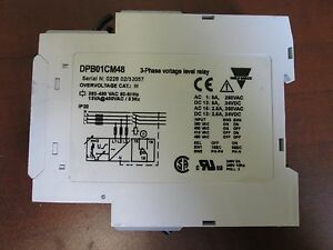 Carlo Gavazzi Voltage Relay Dpb01 3ph 380 480vac Used