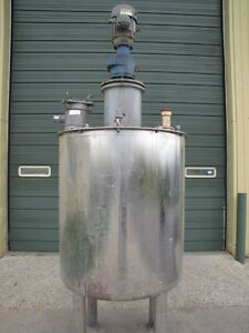 295 Gallon Stainless Steel Tank With 2 Hp Mixer