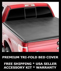 Tri Fold Folding Tonneau Cover Tonno New For 2007 2013 Gmc Sierra 6 6 Truck Bed