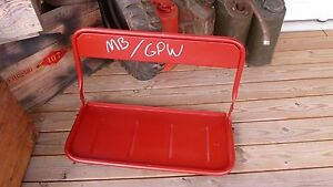 Jeep Willys Mb Gpw Willys Style Rear Seat