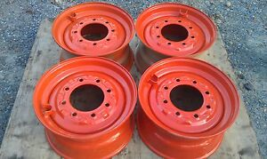 4 New 16 5x8 25x8 Skid Steer Rims For Bobcat Fit 10x16 5 10 16 5 custom Wheel
