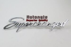 Universal Chromed Trim Emblem Script Supercharged Logo Street Hot Rat Rod Decal