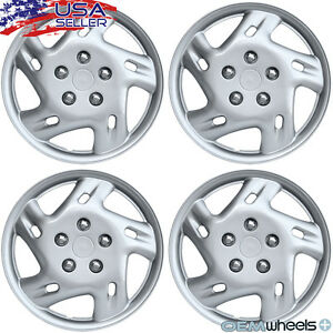 4 New Oem Silver 15 Hubcaps Fits 1998 Current Vw Beetle Wheel Center Covers Set