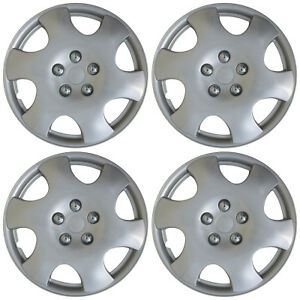 4 Piece Set Hub Caps Abs Silver 15 Inch Wheel Cover For Oem Rims Cap Covers