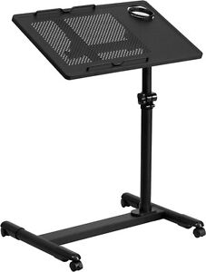 Mobile Adjustable Laptop Stand In Black Finish School Lectern Church Lectern