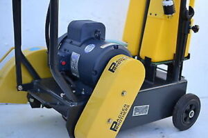 New Packer Brothers 16 Walk behind Concrete Saw Electric Cement Saw