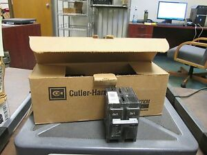 Cutler hammer Br Circuit Breaker Br250 50a 120 240v 2p box Of 5 New Surplus