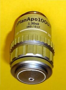 Olympus D Plan Apo 100x Uv Oil Immersion Microscope Objective160mm Tl