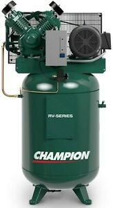 Best Champion Air Compressor Vrv10 8 10 Hp 80 Gal 3 Phase Start stop 230 Volt