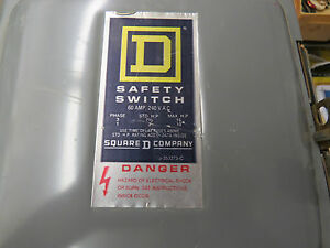 Square D Safety Switch D 222n 60 Amp 240 Volt