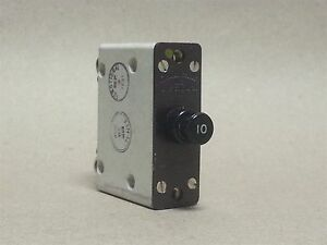 Eaton Aircraft Time Delay 10a 28vdc Circuit Breaker Part 1200 001 10