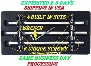 20 License Plate Brackets For Bumper With 6 Unique Screws Wrench Kit Brand New