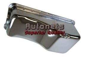 68 78 Ford Big Block Bbf Oil Pan V8 429 460 Chrome Steel Front Sump Hot Rod
