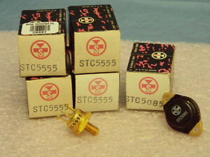 Lot Of 5 New 4 Stc5555 1 Stc5085 Silicon Pnp Gold plated Transistors