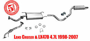 Land Cruiser Lx470 4 7l 98 07 Intermidiate Pipe With Middle And Rear Muffler