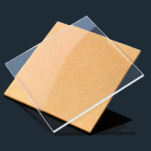 2pcs Clear Perspex Acrylic Sheet Plate Pmma Panel 3x100 X100mm
