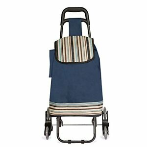 New Shopping Cart Trolley Stair Climbing Rolling Folding Grocery Laundry Utility