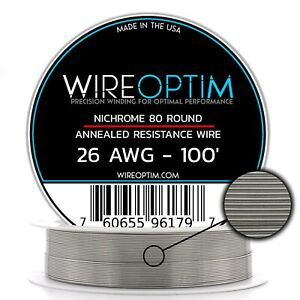 26 Gauge Awg Nichrome 80 Wire 100 Length N80 Wire 26g Ga 0 40 Mm 100 Ft
