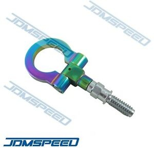 Neo Chrome Cnc Euro Racing T2 Tow Hook For Bmw M E46 E81 E30 E36 E90 E91 E92 E93