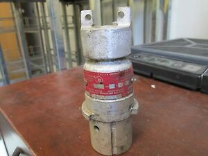 Crouse hinds Arktite Plug Cph 7713 7 30a 460 230v 1ph 3w Open End Used