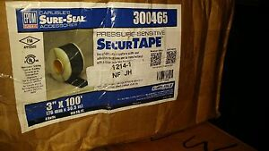 300465 Securtape Sure seal Pressure Sensitive Roofing Tape 4 Rolls 3 x100
