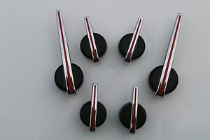 6 07 13 Red Black Chrome Gm Truck Or Uyility Escalade Premium Cluster Needles