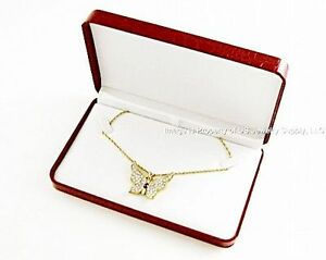 12 Elegant Red Crocodile Pattern Necklace Pendant Chain Gift Boxes