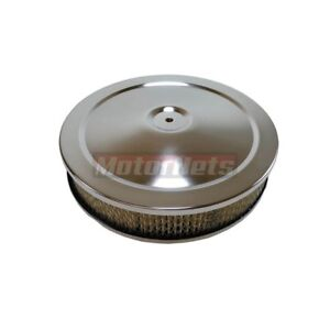 10 X 2 Round Chrome Air Cleaner Chevy Sbc 350 Bbc 454 Ford Holley Edelbrock
