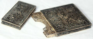 Original Antique C1840 Sterling Filigree Card Case Victorian Gorgeous