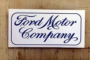 Vintage Ford Motor Co Blue Sticker Decal 4 5 x2 2